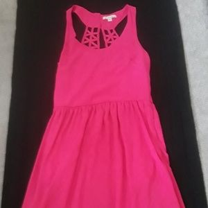 Bright Pink Tank Top Dress WITH POCKETS